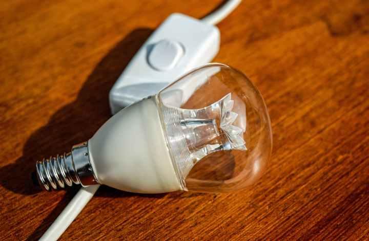 bulb close up conceptual current